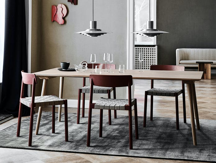 And Tradition Betty Chairs Red 2 Thau Kallio