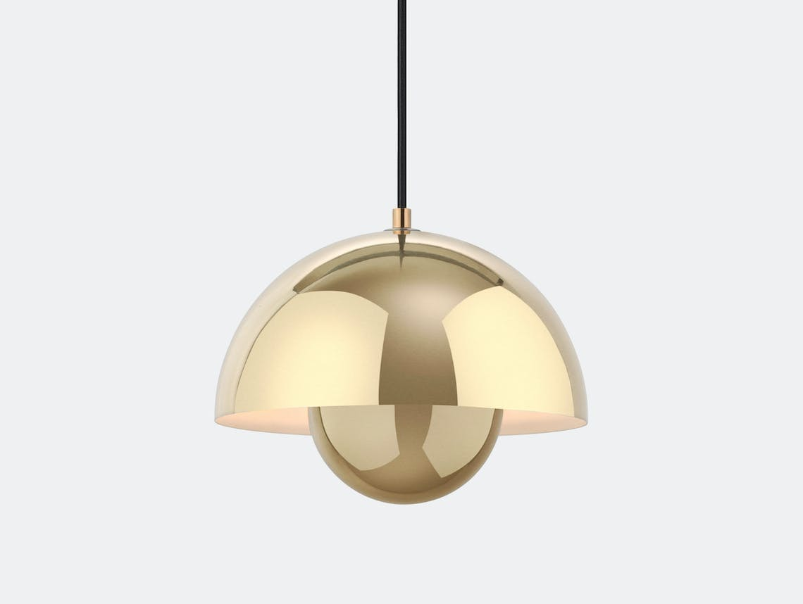 And Tradition Flowerpot Pendant Light Brass Verner Panton