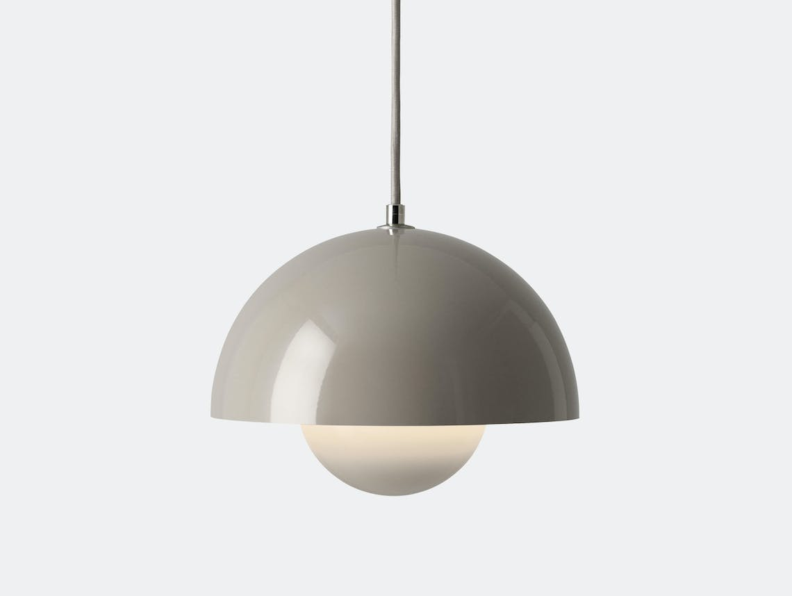 And Tradition Flowerpot Pendant Light Grey Beige Verner Panton