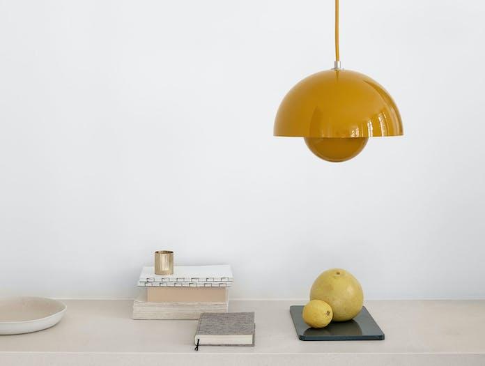 And Tradition Flowerpot Pendant Lights Mustard Verner Panton