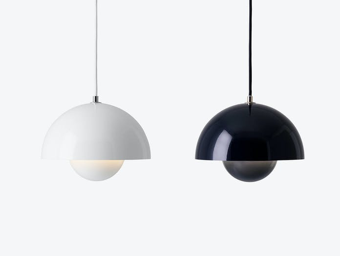 And Tradition Flowerpot Pendant Lights White Black Blue Verner Panton
