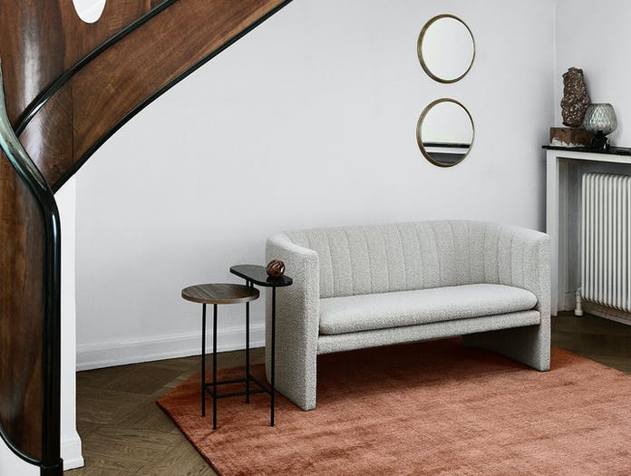 And Tradition Loafer Two Seater Sofa Grey Space Copenhagen
