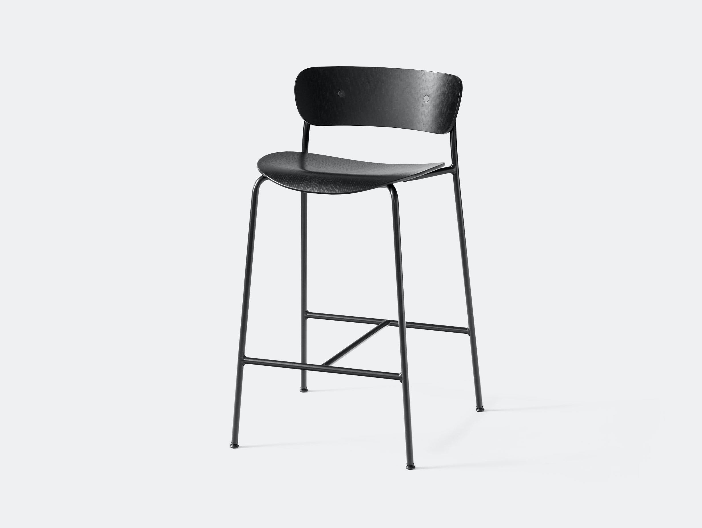 And Tradition Pavilion Bar Stool Black Anderssen Voll