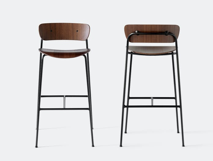 And Tradition Pavilion Bar Stools Walnut Anderssen Voll
