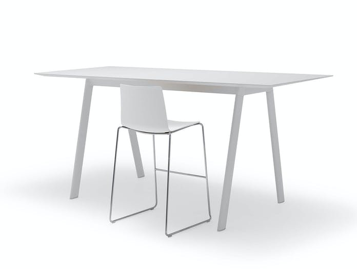Andreu World Radial Table High White