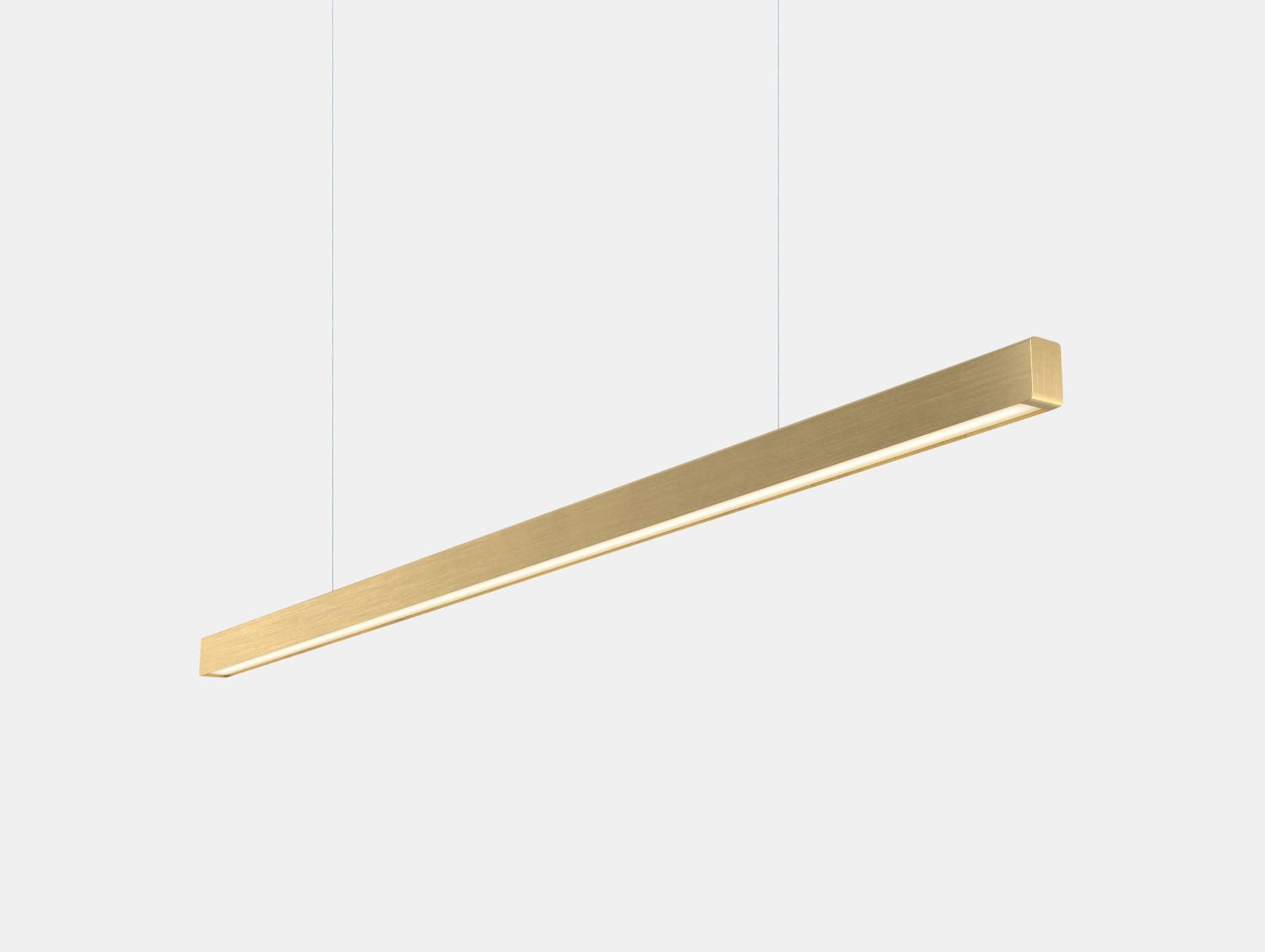 Anour I Model Pendant Light Brushed Brass L150 Arash Nourinejad