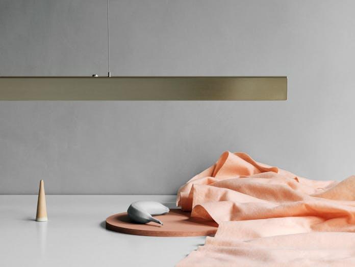 Anour I Model Pendant Light Brushed Brass Detail Arash Nourinejad
