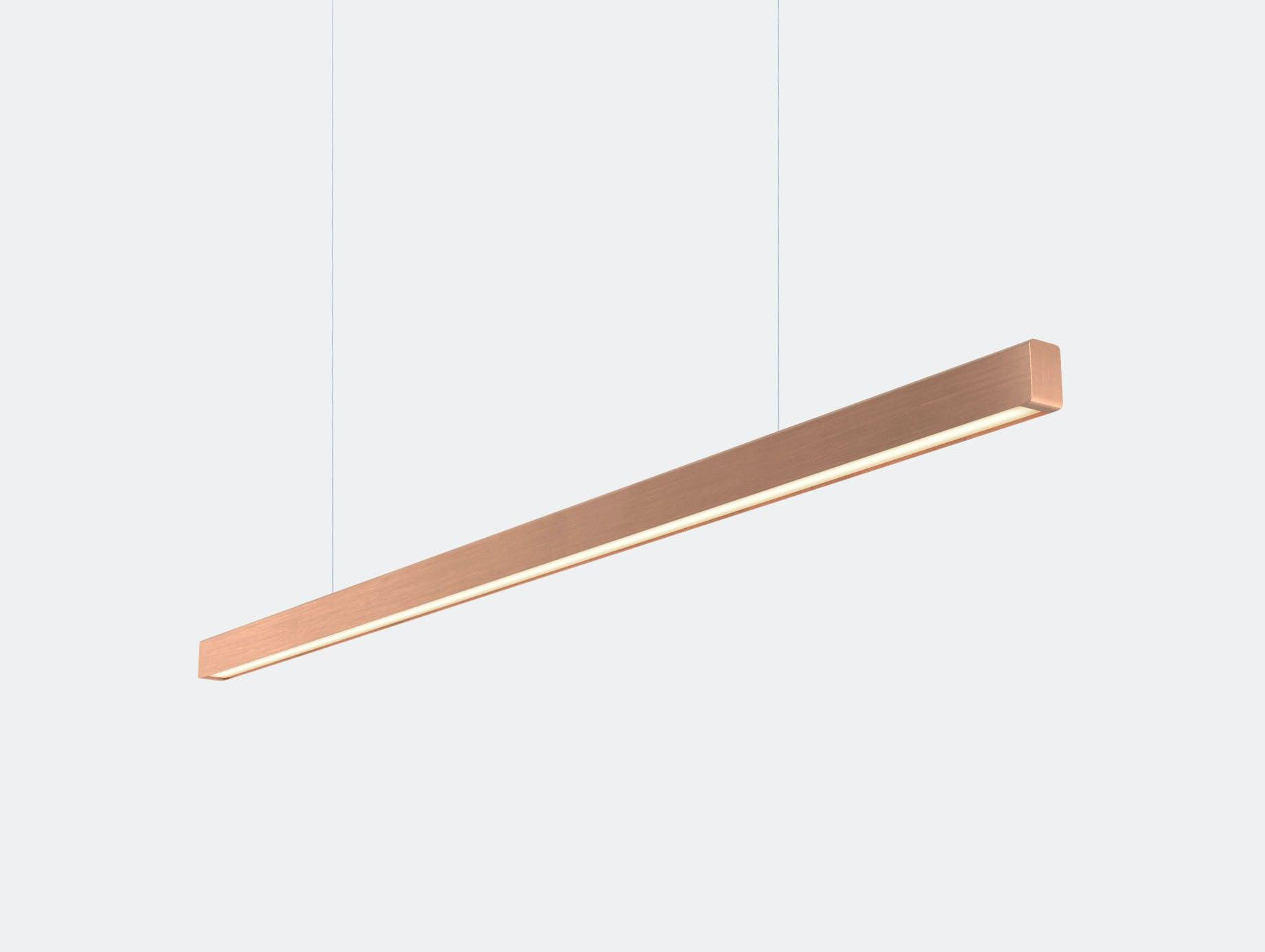 Anour I Model Pendant Light Brushed Copper L150 Arash Nourinejad