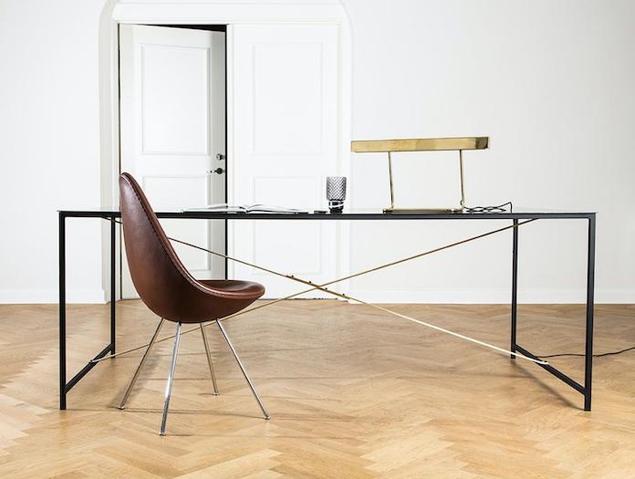 Anour T Model Desk Lamp Brass Arash Nourinejad