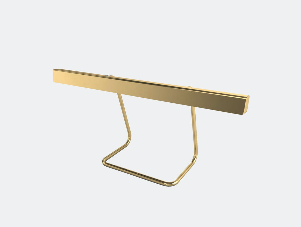 Anour T Model Desk Lamp Brushed Brass Arash Nourinejad