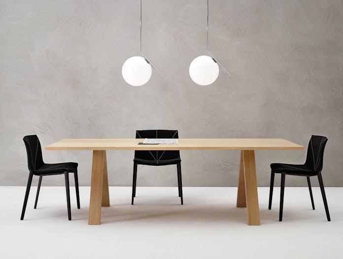 Arper Cross Table Oak 2 Metrica