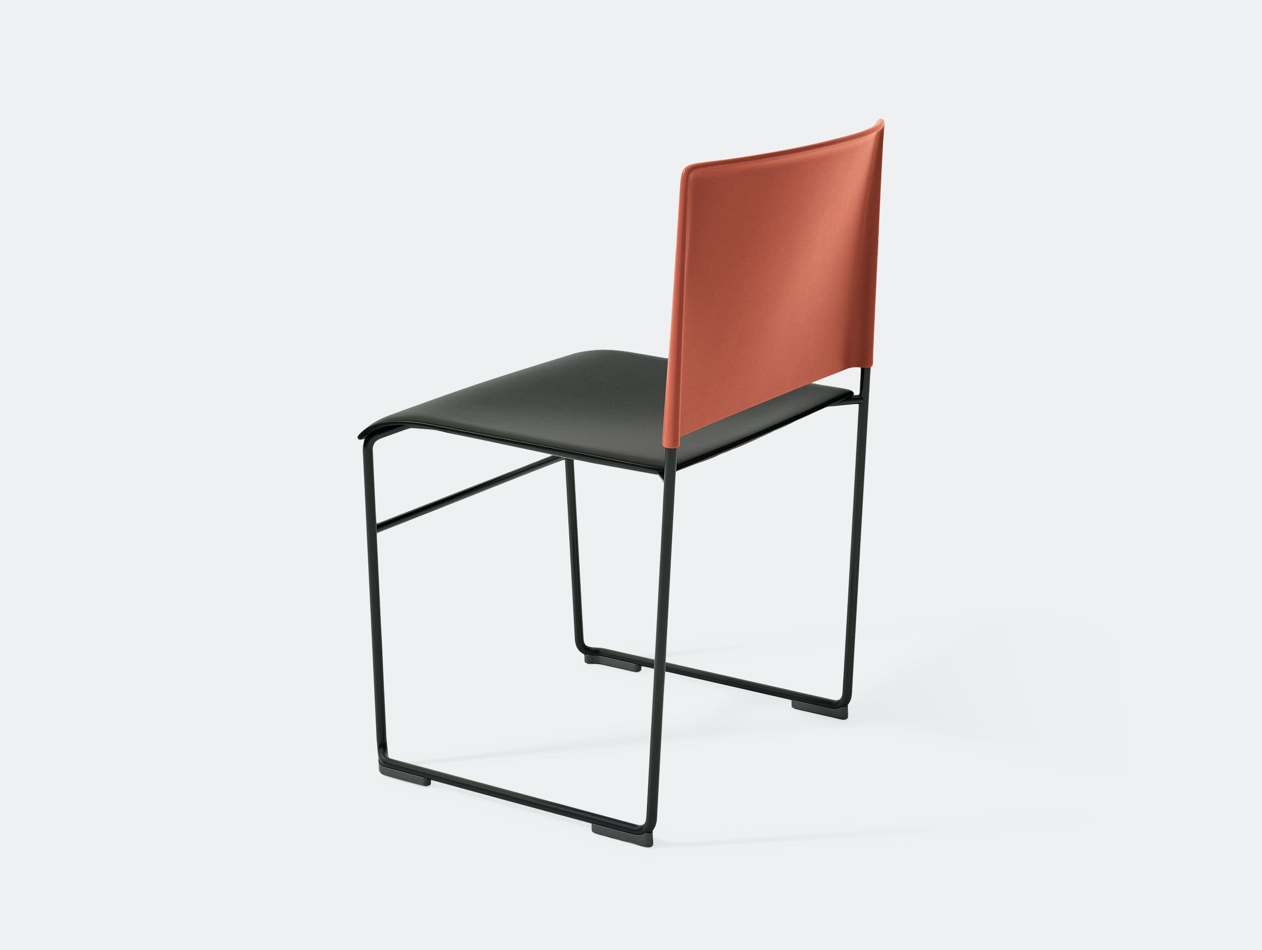 Arper Stacy Chair Black Red Lievore Altherr