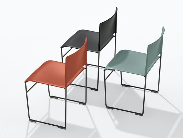 Arper Stacy Chair Black Red Blue Lievore Altherr