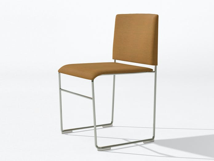 Arper Stacy Chair Chrome Upholstered Lievore Altherr