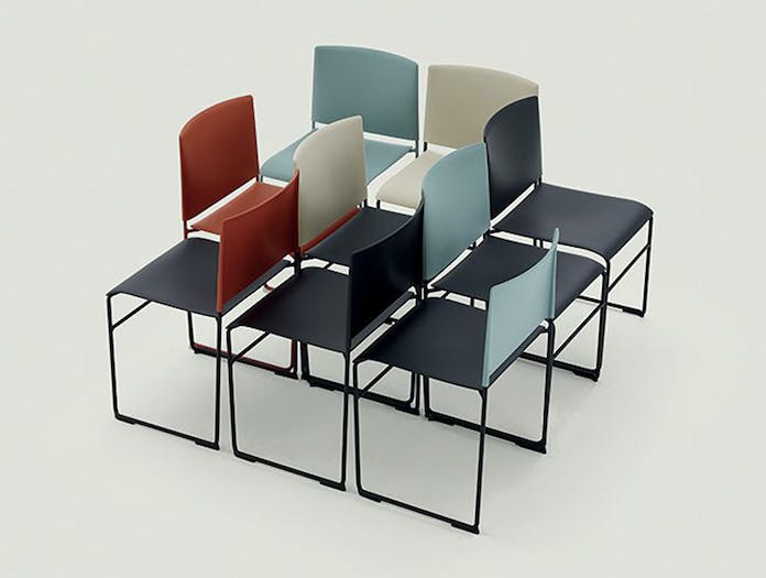 Arper Stacy Chair Group Lievore Altherr