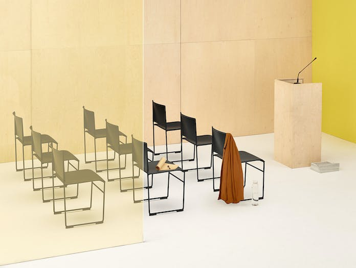 Arper Stacy Chairs Meeting Room Lievore Altherr