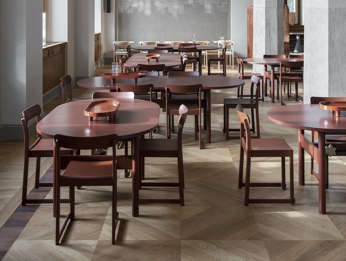 Artek Atelier Chair Red Cafe Taf Architects