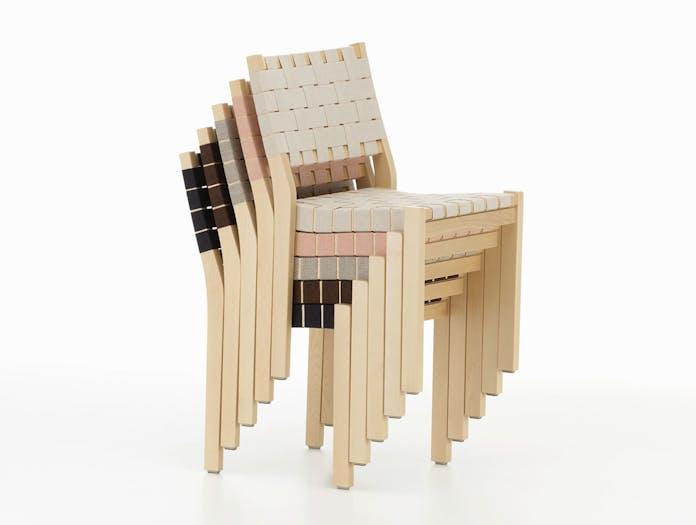 Artek Chair 611 Birch Stacked Aalto