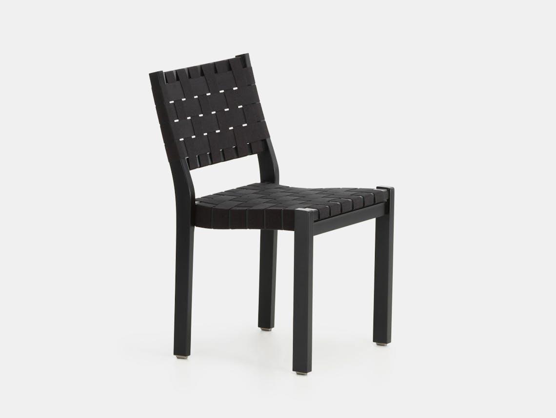 Artek Chair 611 Black Black Alvar Aalto