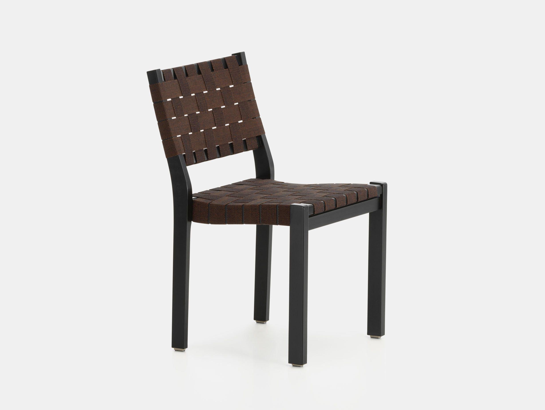 Artek Chair 611 Black Brown Alvar Aalto