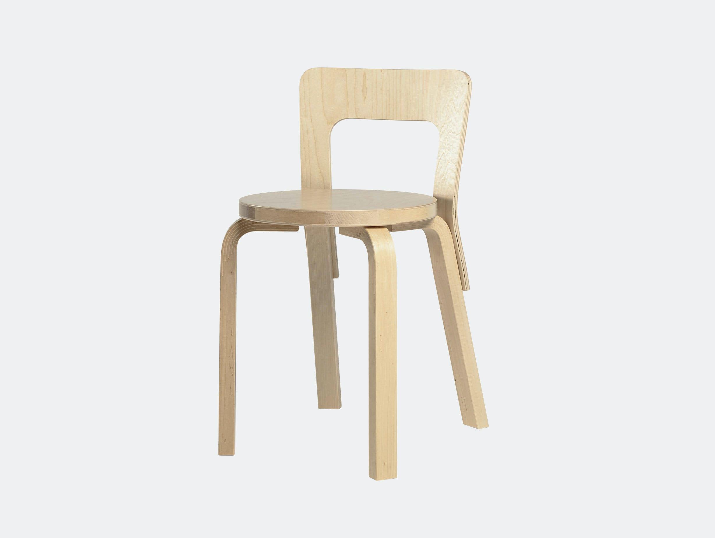 Artek Chair 65 Birch Alvar Aalto