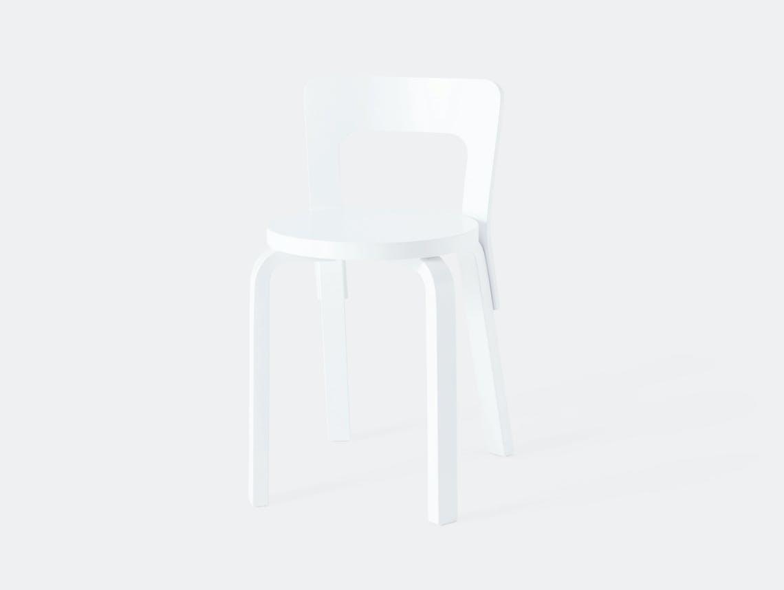 Artek Chair 65 White Birch Alvar Aalto