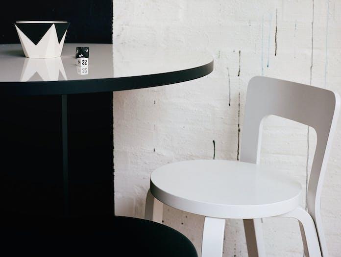 Artek Chair 65 White Birch Detail Alvar Aalto