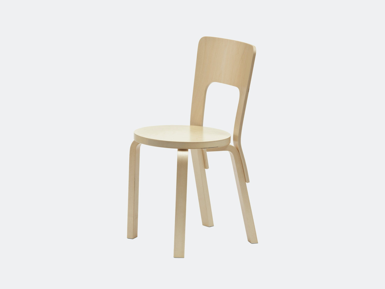 Artek Chair 66 Birch Alvar Aalto