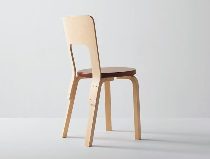 Artek Chair 66 Birch Back Alvar Aalto