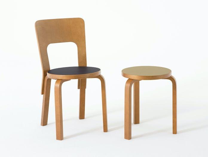 Artek Chair 66 Stool Alvar Aalto