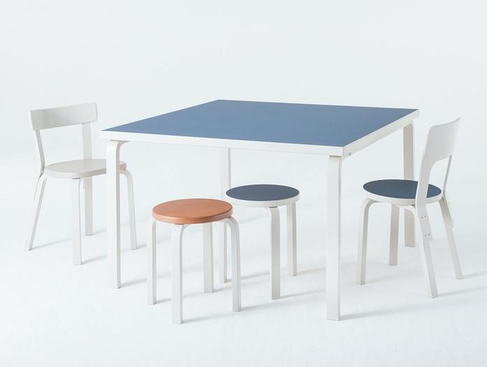 Artek Chair 66 Table Stools Alvar Aalto
