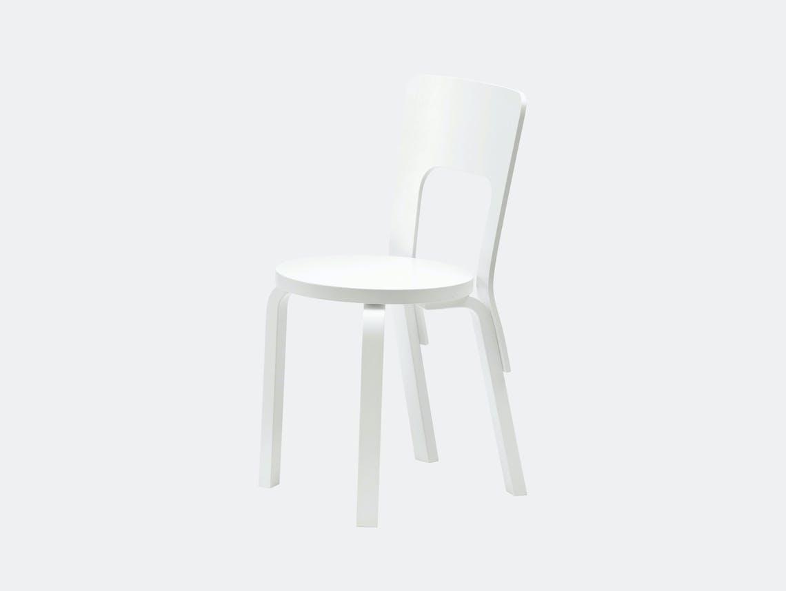 Artek Chair 66 White Birch Alvar Aalto