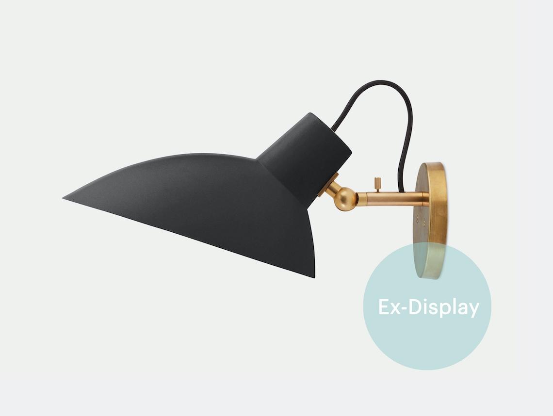 Astep Vv Cinquanta Wall Light Black Brass Ex Display