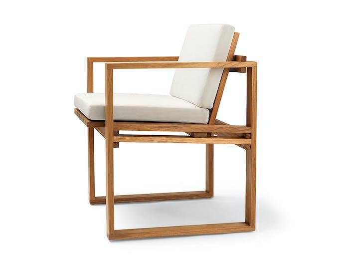 Carl Hansen Bk10 Dining Chair Teak Cushion Bodil Kjaer