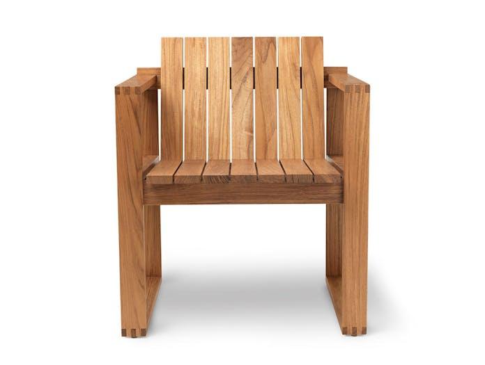 Carl Hansen Bk10 Dining Chair Teak Front Bodil Kjaer