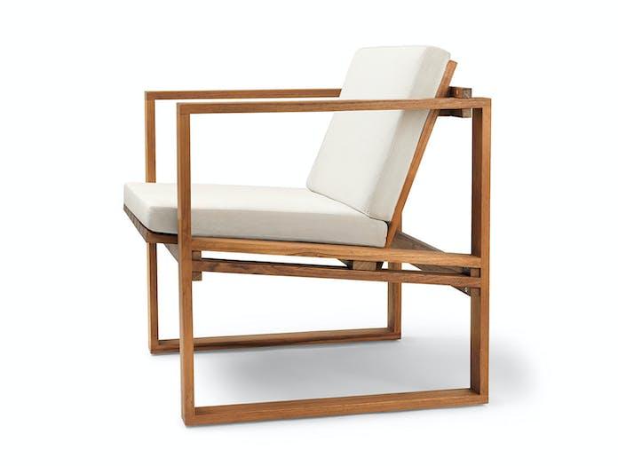 Carl Hansen Bk11 Lounge Chair Teak Cushion Bodil Kjaer