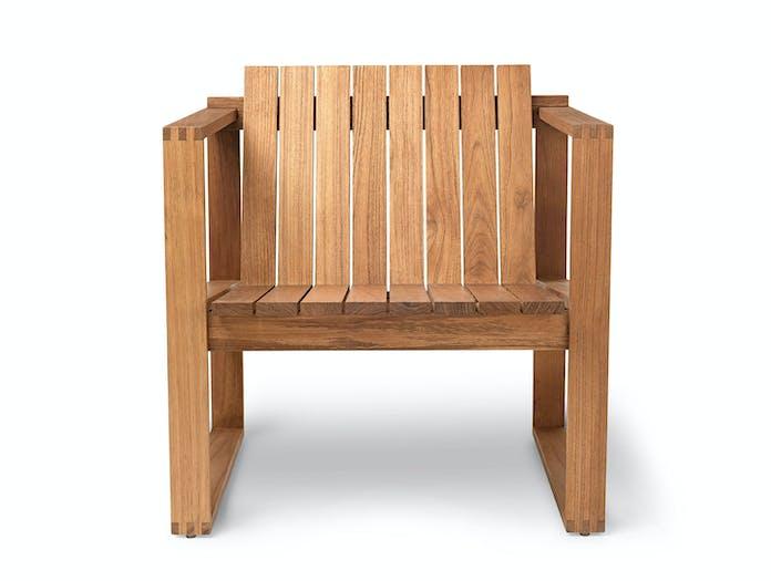 Carl Hansen Bk11 Lounge Chair Teak Front Bodil Kjaer