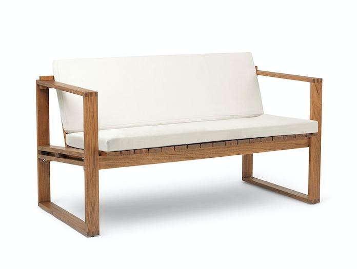 Carl Hansen Bk12 Lounge Sofa Teak Cushions Bodil Kjaer