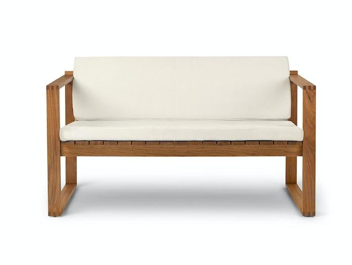 Carl Hansen Bk12 Lounge Sofa Teak Cushions Front Bodil Kjaer