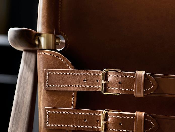 Carl Hansen Huntsman Chair Brass Buckle Detail Borge Mogensen
