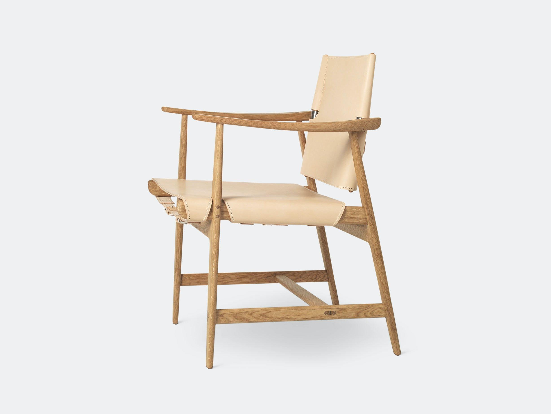 Carl Hansen Huntsman Chair Oak Oiled Natural Leather Borge Mogensen