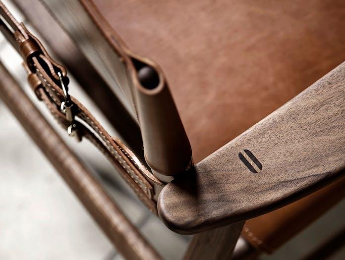 Carl Hansen Huntsman Chair Walnut Arm Detail Borge Mogensen