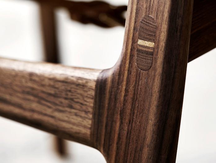 Carl Hansen Huntsman Chair Walnut Joint Detail Borge Mogensen