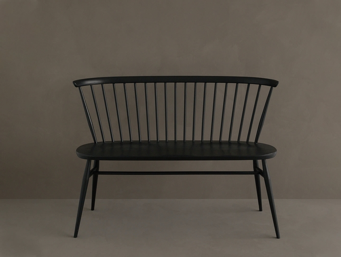 Ercol Originals Love Seat Black 2 Lucian Ercolani