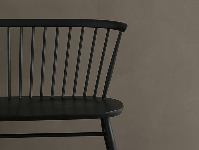 Ercol Originals Love Seat Black Lucian Ercolani