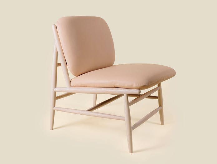 Ercol Von Chair Nude Leather