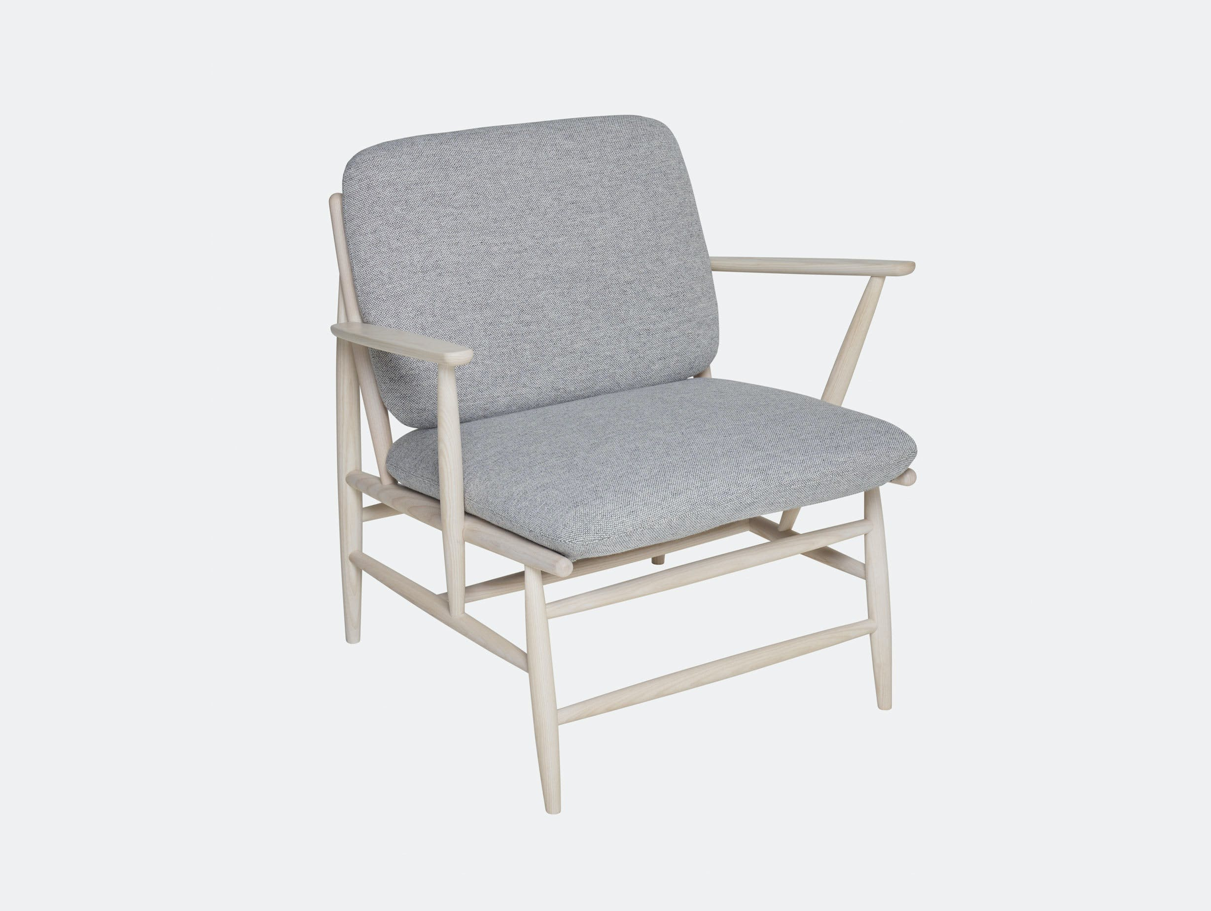Ercol Von Lounge Chair Grey Hallingdal Ash With Arms Hlynur V  Atlason
