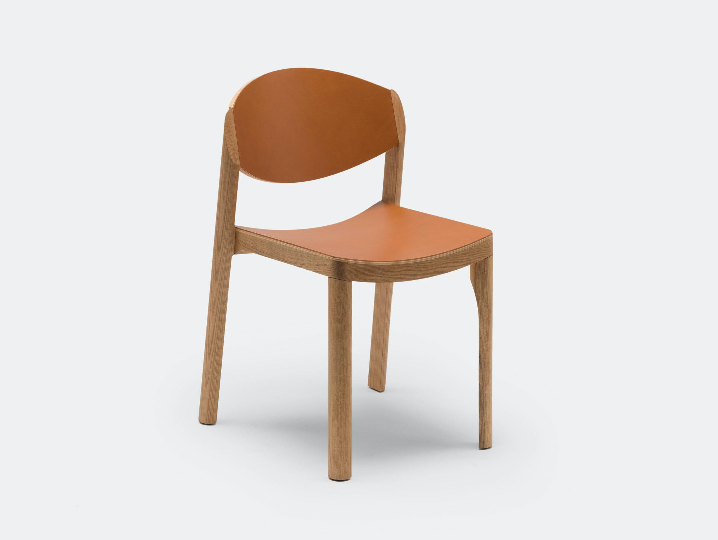 Established And Sons Mauro Chair Oak Leather Mauro Pasquinelli