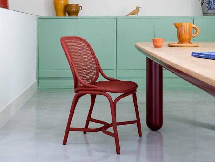 Expormim Frames Dining Chair Red Rattan Jaime Hayon