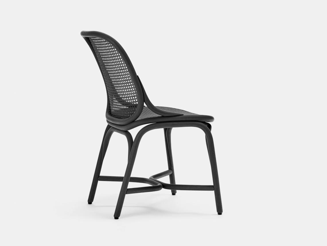 Expormim Frames Side Chair Black Rattan Jaime Hayon